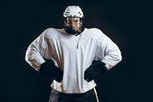 Portrait Of Ice-hockey Player ...