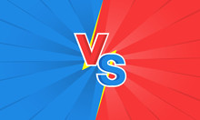 Versus VS Letters Fight Backgrounds In Flat Style Design With Lightning. Vector Illustration