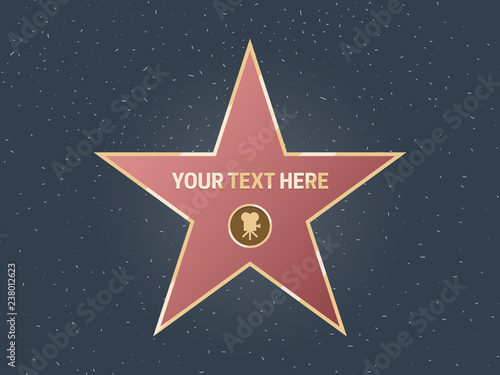 Hollywood movie actor celebrity walk of fame star Wallpaper Mural