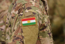 Flag Of Kurdistan On Soldiers ...