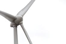 White Wind Turbine Power Stati...