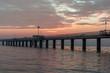 Beautiful sunrise of the sea bridge