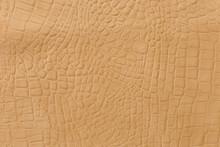 Yellow аlligator Leather Embossed Texture.