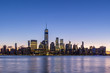 Cityscape of Lower Manhattan, New York at Morning Twilight. United States of America