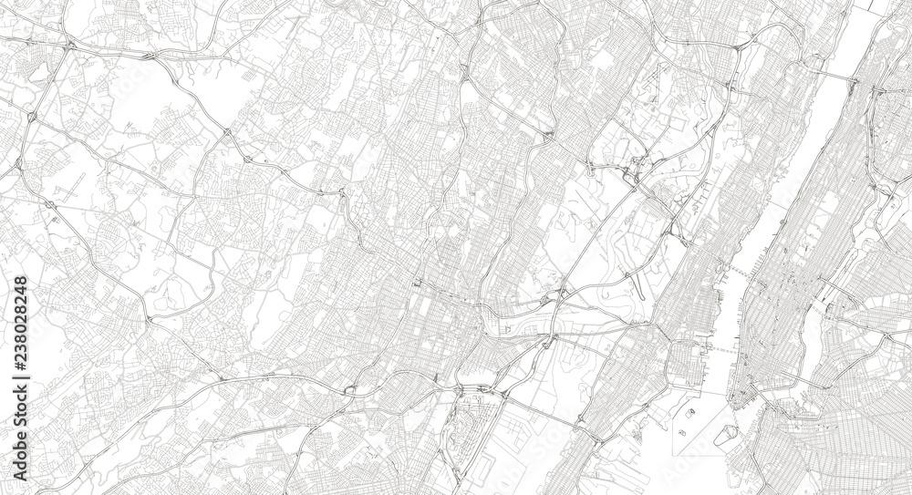 Fototapety, obrazy: Newark / New York Map Illustration