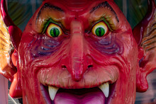 Devil Mask Eyes Detail Fun Fair Luna Park Character