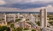 canvas print picture - Skyline der Stadt Essen im Ruhrgebiet (Deutschland)