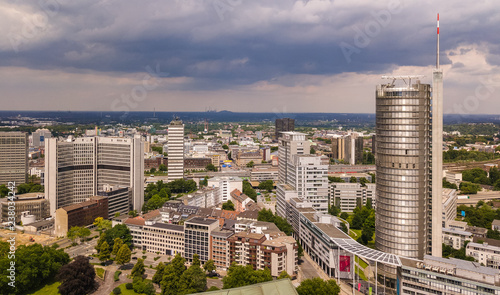 Papel de parede Skyline der Stadt Essen im Ruhrgebiet (Deutschland)
