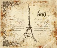 Vintage Postcard Paris Eiffel ...