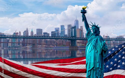 Fotografie, Obraz  skyline cityscape, Landmarks of New York City, USA