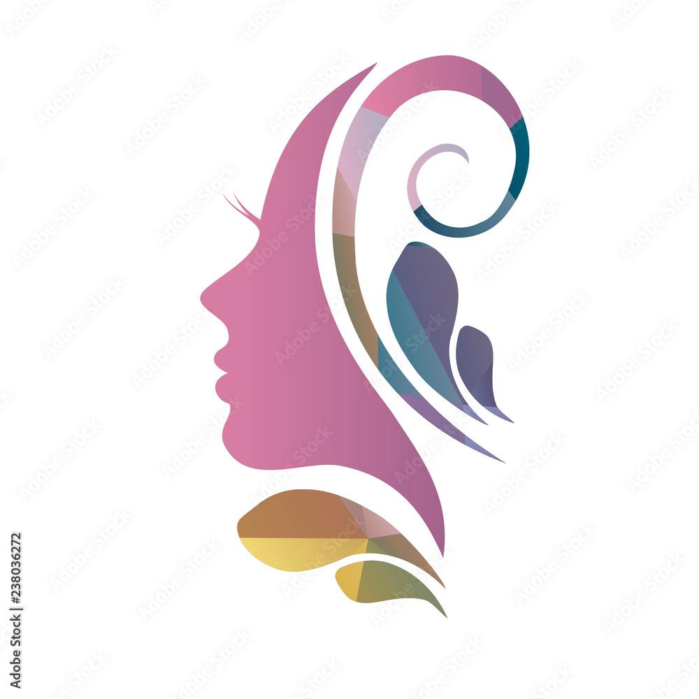 Fototapeta face of a beautiful woman's profile
