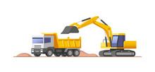 Construction Site. Loader Exca...