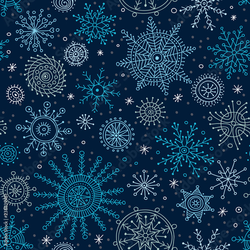 Fond de hotte en verre imprimé Style Boho Vector christmas seamless pattern in ethnic boho style with ornaments.