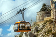 Cable car on the mountain Sdr in Dubrovnik Croatia