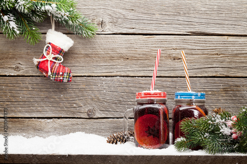 Poster Cocktail Christmas card with mulled wine