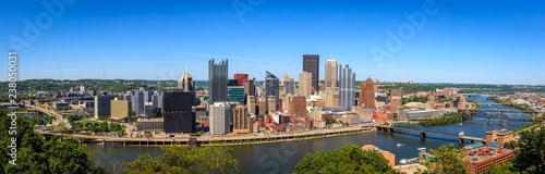 Pittsburgh panorama Wallpaper Mural