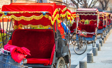 Rickshaw In Beijing China On March 28, 2017
