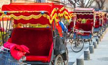 Rickshaw In Beijing China On M...