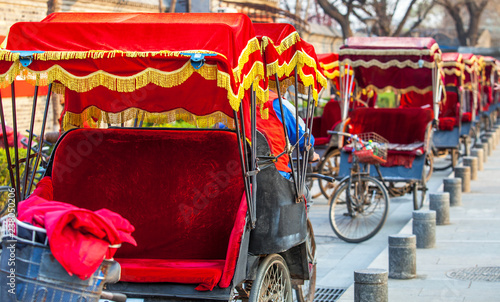 Rickshaw in Beijing China on March 28, 2017 Tapéta, Fotótapéta