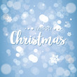 wish lettering greeting card design merry christmas happy new year holidays celebration template glittering snowflakes poster blue blur background flat
