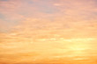 Picturesque view of beautiful sky lit by setting sun