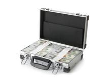 Open Hard Case Full Of Money O...