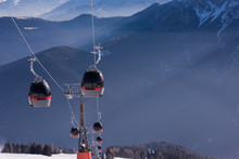 Gondola Lift At Ski Resort
