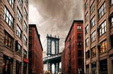 DUMBO Down under Manhattan bridge, New York city street