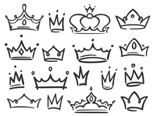 Sketch Crown. Simple Graffiti ...