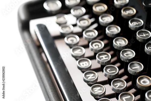 Fotografía  Close up of retro style typewriter in studio