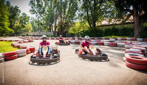Photo  Go kart speed drive race sport contest