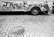 Grafitti Covered Van In Downto...