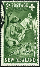 NEW ZEALAND - 1959: Shows Scout Camp, Pan-Pacific Scout Jamboree, Auckland