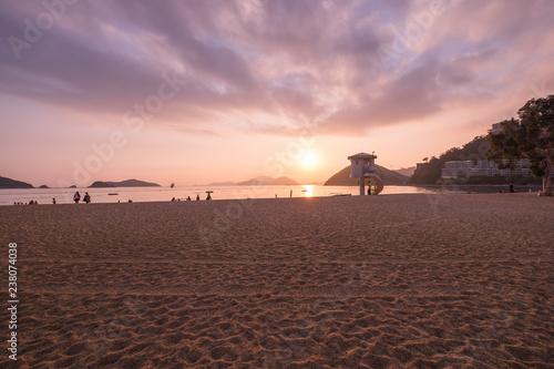 Fényképezés  View of Repulse Bay Beach in sunset time The Repulse Bay at southern of Hong Kon