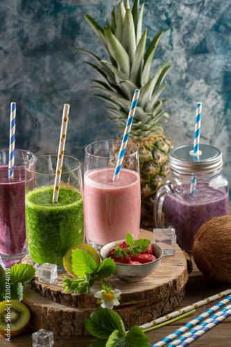 Photo  Fresh healthy drink smoothie