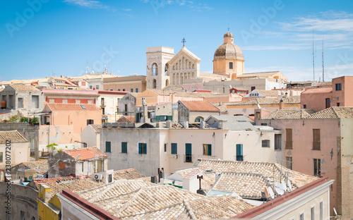 Vászonkép  View of Cagliari, Sardinia, Italy.