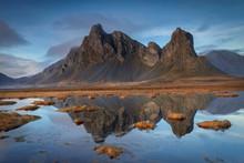 Eystrahorn Mountains From Hvalnes Lighthouse In Iceland