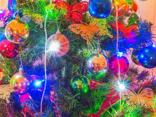 Obraz na płótnie Canvas christmas tree background