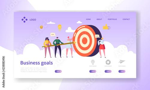 Valokuva  Business Goal Achievement Landing Page