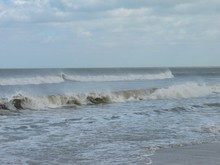 Brandende Wellen Am Strand Der...