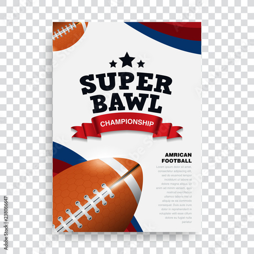Poster American Football Banner And Brochure Template Vector Design Super Bowl Rugby Sport Buy This Stock Vector And Explore Similar Vectors At Adobe Stock Adobe Stock