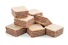 Square Wafer Biscuits Isolated...