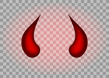 Realistic Red Devil Horns Set....