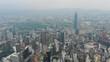 kuala lumpur cityscape downtown famous building construction aerial panorama 4k malaysia
