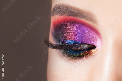Fotografiet Amazing Bright eye makeup in luxurious blue shades