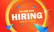 Leinwanddruck Bild - We are hiring banner with megaphone. Join our team