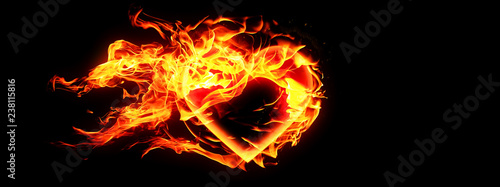 Photo Fire Heart