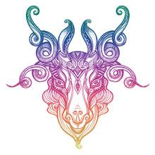 Mystic Ram Aries. Beautiful Li...