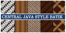 Illustration Of Various Types Of Batik In Indonesian Java, Vector Illustration