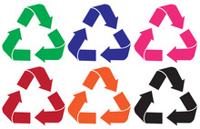 Set Of Recycle Logo Different ...